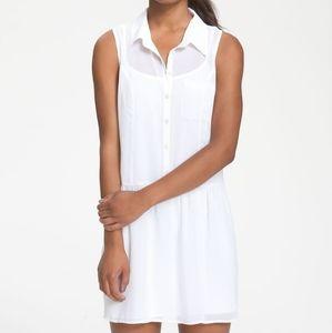 NWOT Lovely white Shirtdress